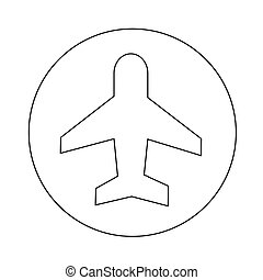 Air plane icon illustration design