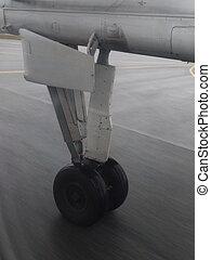 air-plane, tyre, våd