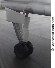 air-plane tyre wet