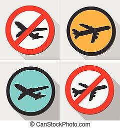 Air plane warning signs