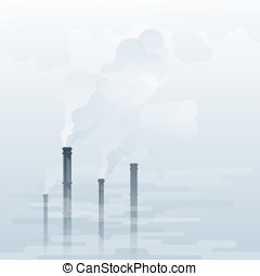 Air Pollution - Environmental pollution, industrial smoke...