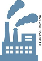 Air pollution factory vector icon