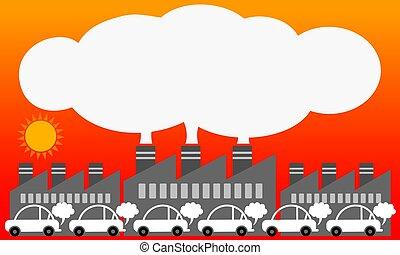 Air pollution from urban. Illustration vector design.