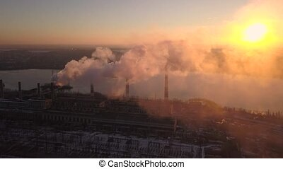 Air Pollution in Smoke Metallurgy Plant.autumn Season.