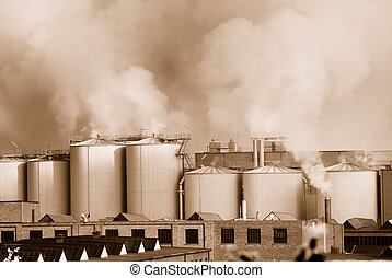 Air pollution by a chemical factory