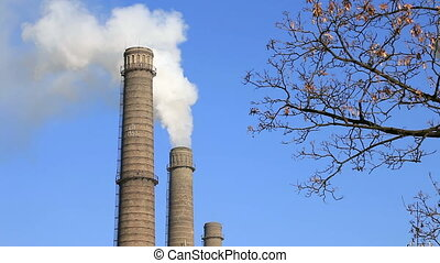 Air pollution. Power plant