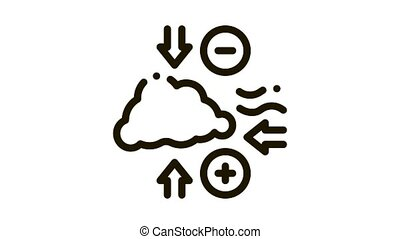 Air Pressure Icon Animation. black Air Pressure animated icon on white background