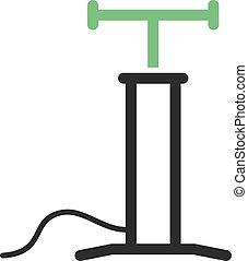 Air Pump - Car, air, pump icon vector image. Can also be...
