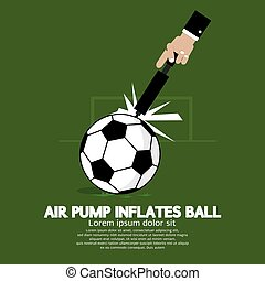 Air Pump Inflates Ball Vector Illustration