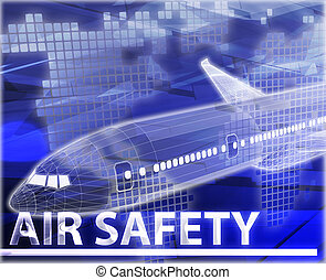 Air safety Abstract concept digital illustration