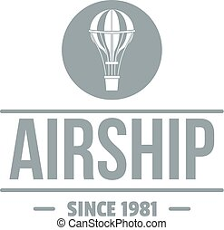 Air ship logo, simple gray style