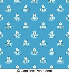 Air ship pattern vector seamless blue
