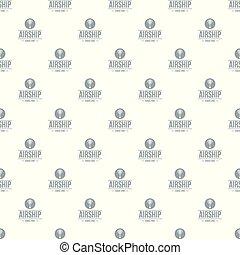 Air ship pattern vector seamless