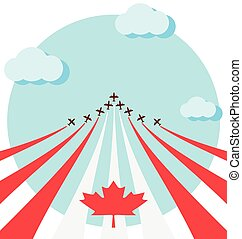 Air show for the national day of Canada - Air show for ...
