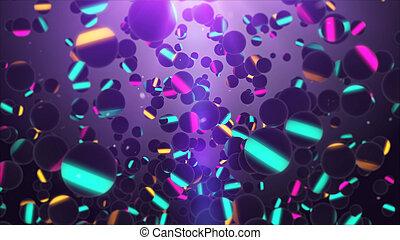air, sphères, voler, multiple, multicolore