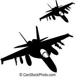 Air strike. Vector - Military fighters flying. Vector ...