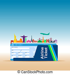 air ticket illustration
