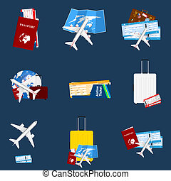 air ticket travel sign illustration