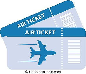 Air ticket vector icon - Air tickets vector icon isolated on...
