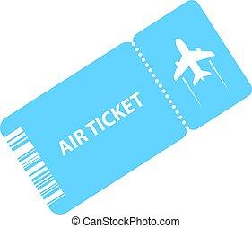 Air ticket vector icon