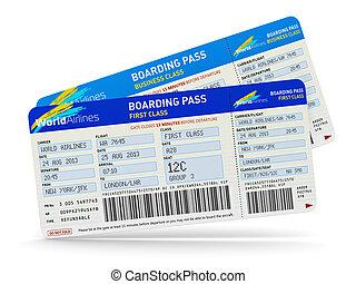 Air tickets - Air business travel transportation concept:...