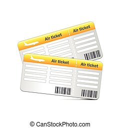 Air tickets isolated on white vector