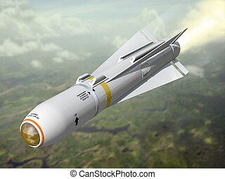 Air-to-ground missile - Very high resolution 3d rendering of...