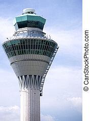 Air Traffic Control Tower - Air traffic control tower at...