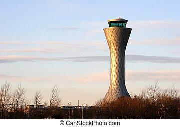 Air Traffic Control Tower at Edinburgh Airport