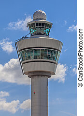 Air traffic control tower - Close up of an Air Traffic...