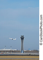 air traffic control tower in airport