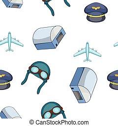 Air transport pattern, cartoon style
