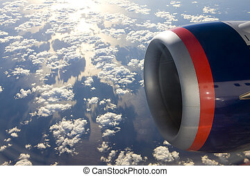 air transport - plane\'s motor