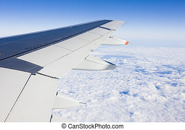air transport - plane's wing