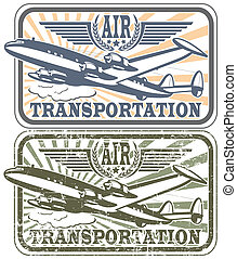 Air transportat stamp - The vector image of Air...