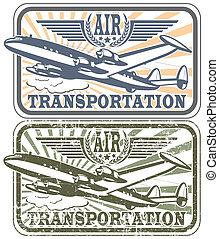 Air transportat stamp