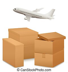 Air transportation illustration
