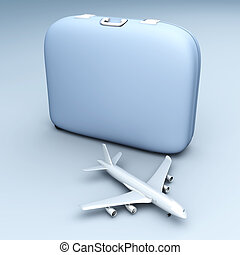Air Travel - Air travelling. 3D rendered Illustration. ...
