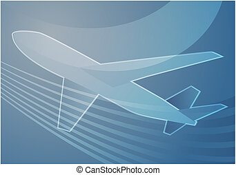 Air travel airplane abstract graphic wallpaper illustration