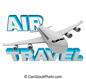 Air Travel - Airplane Flight for Vacation or Business - Book...