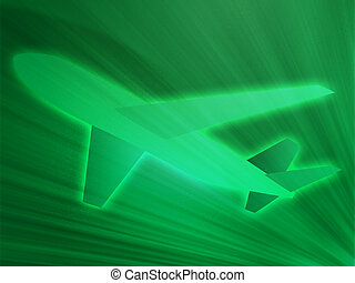 Air travel airplane - Illustration of an airplane showing ...