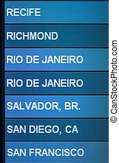 Air travel destinations - Airline scheduled flight...