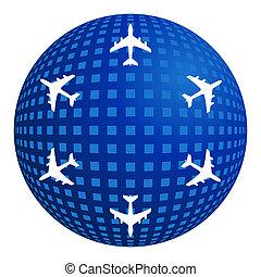 air travel, flight