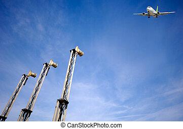 Air travel - Plane near airport