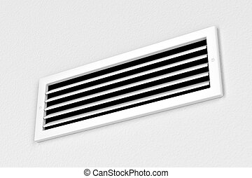 Air vent on the wall