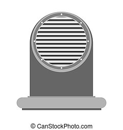Air vent technology design industrial appliance hvac vector...
