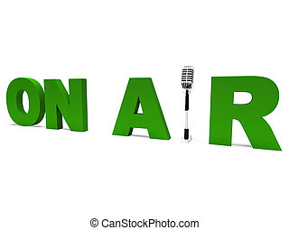 air, vivant, radiodiffusion, radio, studio, ou, spectacles