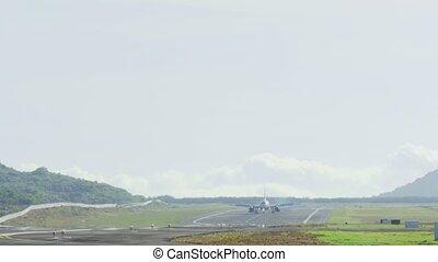 AirAsia Airbus 320 taxiing - PHUKET, THAILAND - NOVEMBER 26,...