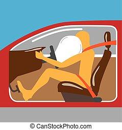 Airbag Seat belt works