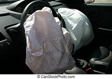 airbags deployed after hit and run accident